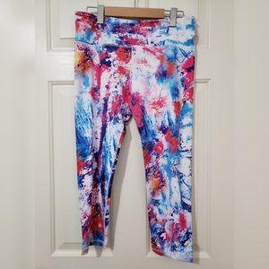 Pants - Paint Splatter Workout Capri